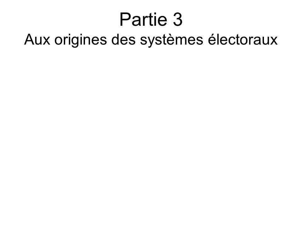 Partie 3 Aux origines des systèmes électoraux