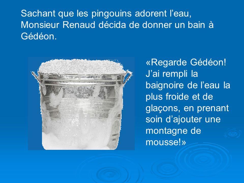 Mais lestomac de Gédéon navait jamais goûté à de la crème glacée, et il la mangea si vite quil renvoya son repas en entier sur le beau tapis de Monsie
