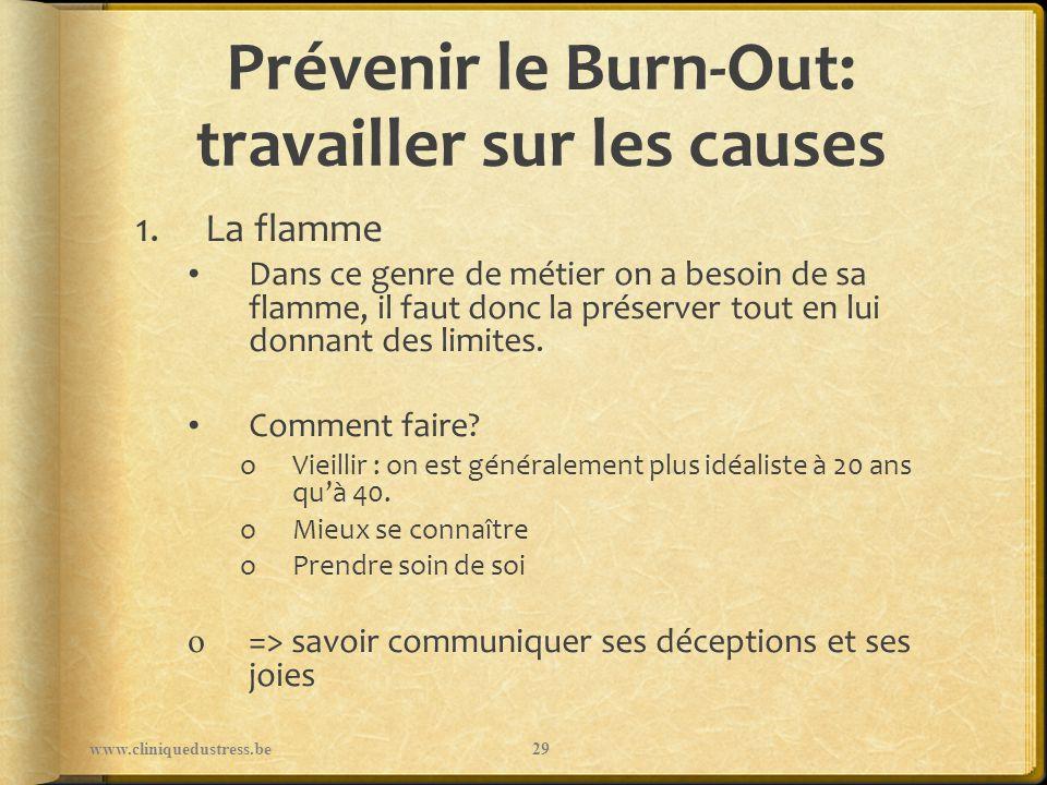 Prévenir le Burn-Out: travailler sur les causes 1.La flamme Dans ce genre de métier on a besoin de sa flamme, il faut donc la préserver tout en lui do