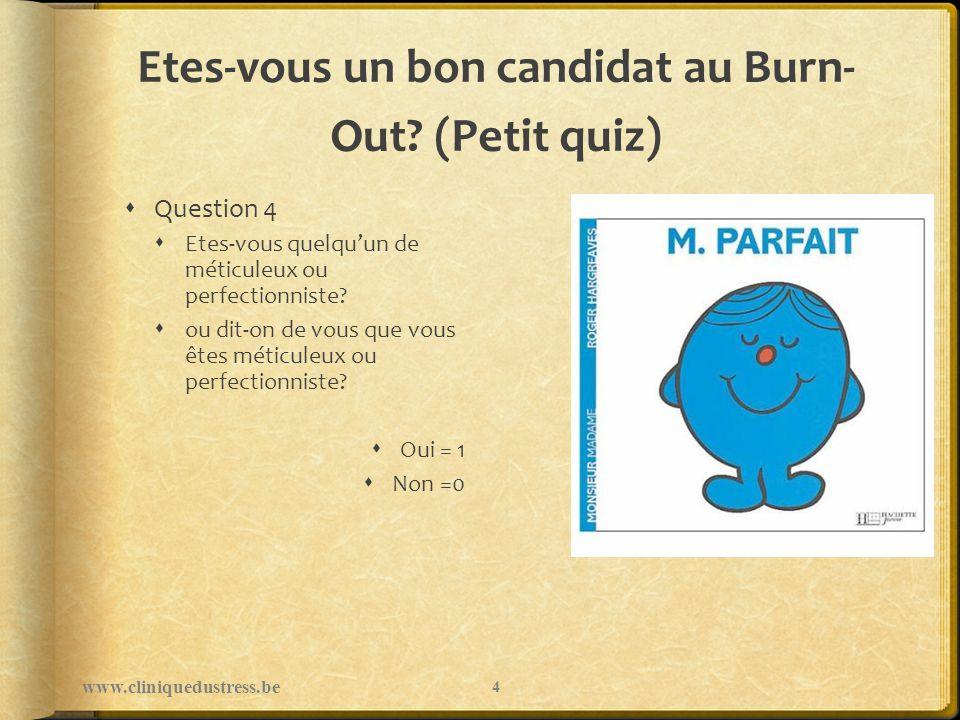 Etes-vous un bon candidat au Burn- Out.