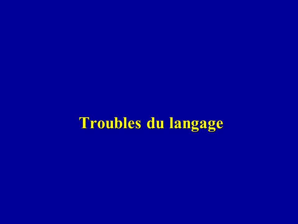 Troubles du langage Troubles du langage