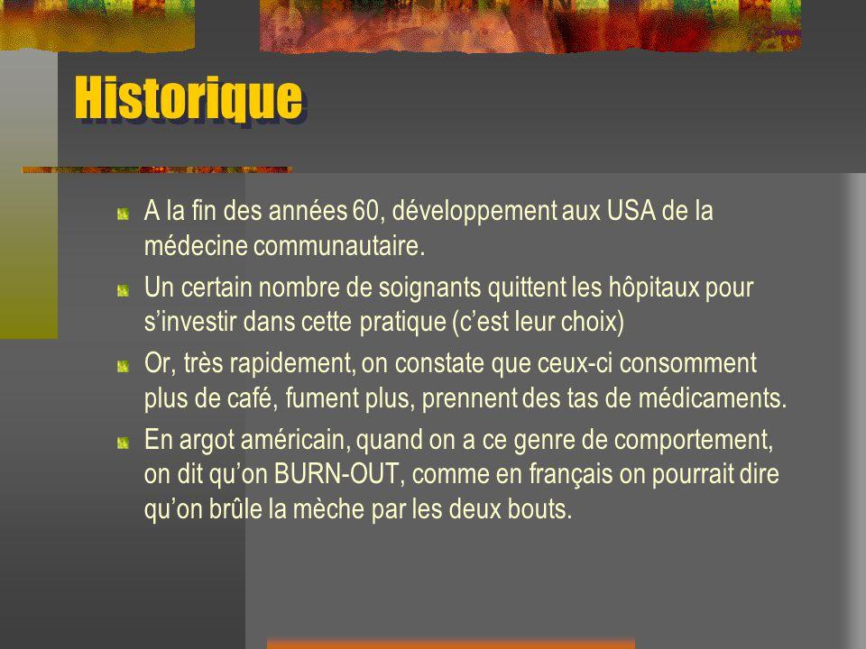 Origine du concept Dictionnaire: To Burn-out: 1.Se consumer (pour une bougie) 2.
