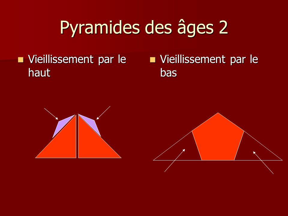 Pyramides des âges 2 Vieillissement par le haut Vieillissement par le haut Vieillissement par le bas Vieillissement par le bas