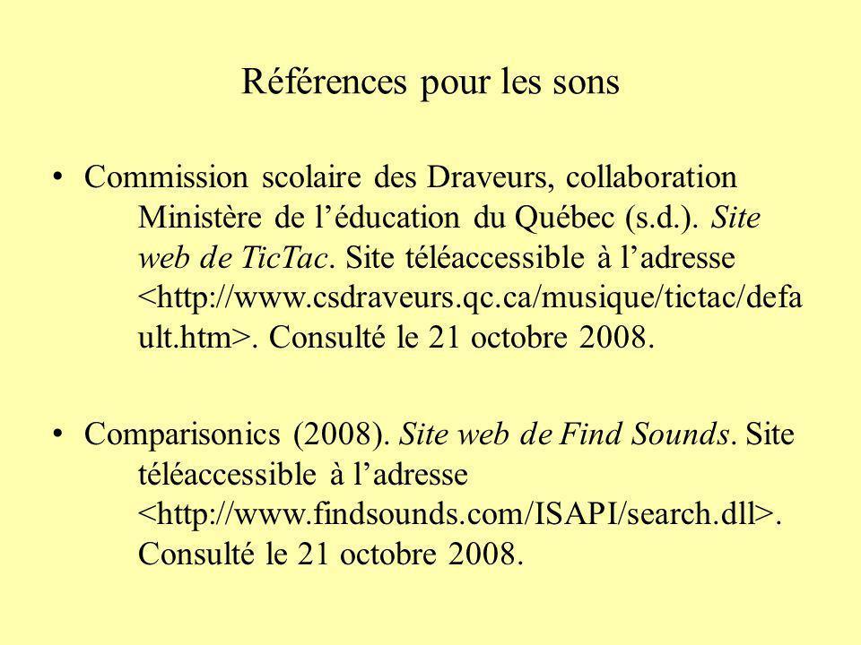 Références pour les images (suite) Dive Spirit Travel (2007).