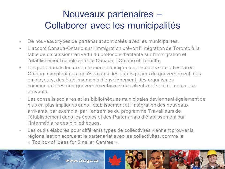 Renforcer les capacités Programme actuel Formation des travailleurs de létablissement aux compétences interculturelles pour répondre aux besoins dune population de plus en plus multiculturelle, et transfert des connaissances au sein du secteur de létablissement, notamment par des forums communautaires et des conférences.