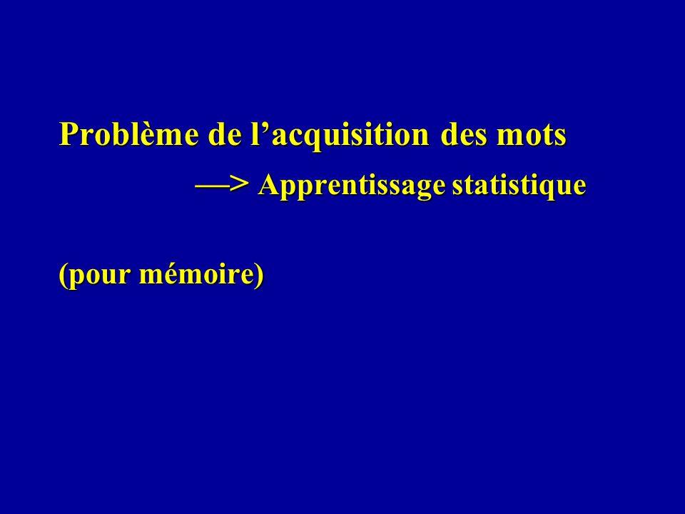 Problème de lacquisition des mots > Apprentissage statistique (pour mémoire)
