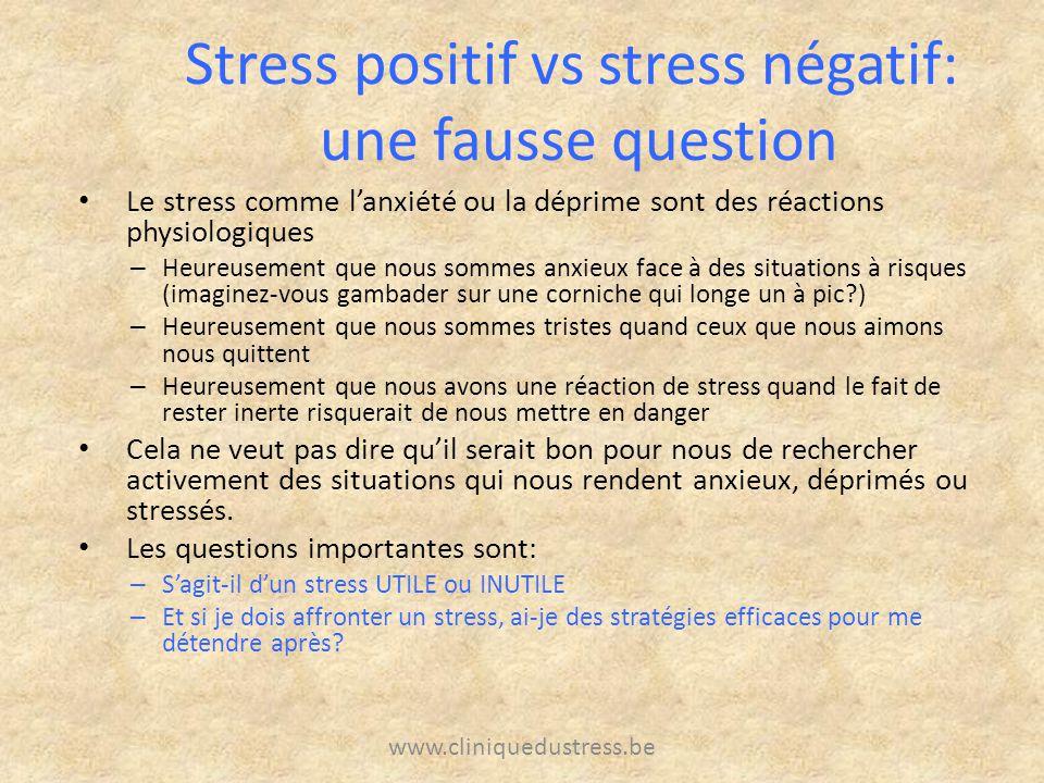 Le stress comme lanxiété ou la déprime sont des réactions physiologiques – Heureusement que nous sommes anxieux face à des situations à risques (imagi