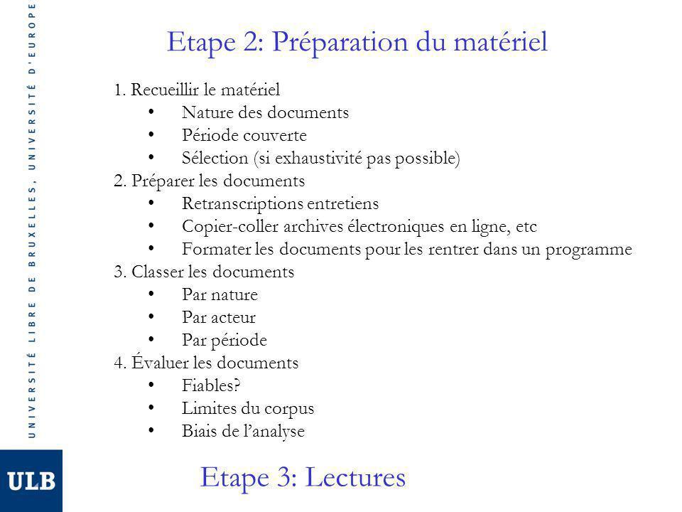 Etape 2: Préparation du matériel 1.