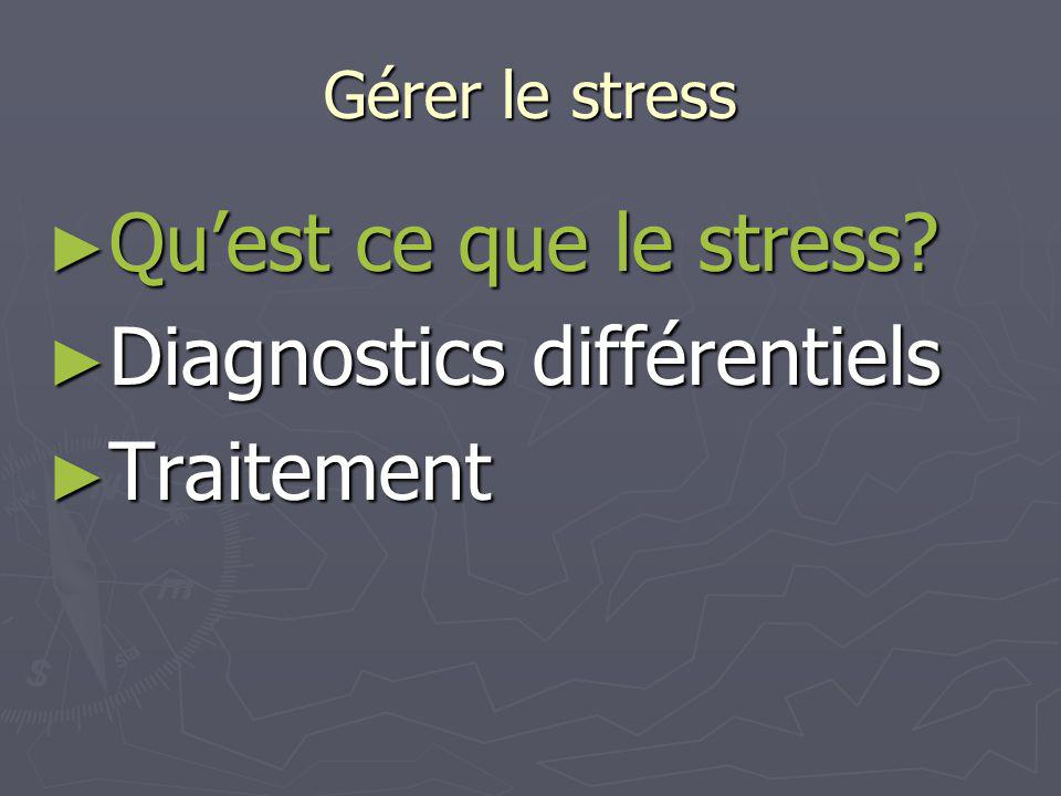 Gérer le stress Quest ce que le stress.Quest ce que le stress.