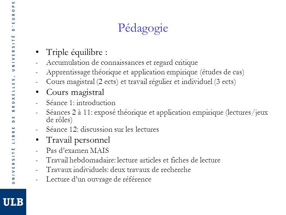 Supports de cours Cours -Pas de syllabus -Documents PowerPoint: site web Département (corps académique, van haute, POLI-D-439) -Manuel: Van Haute E., Adhérer à un parti.