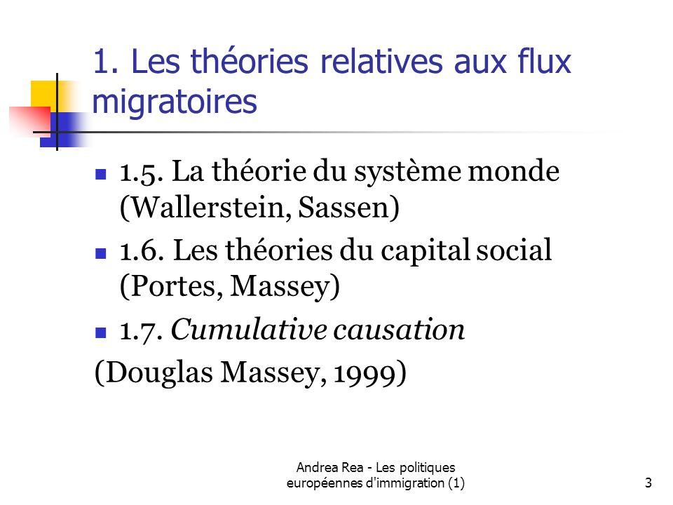 Andrea Rea - Les politiques européennes d immigration (1)3 1.