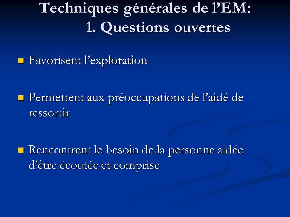 Techniques générales de lEM: 1.