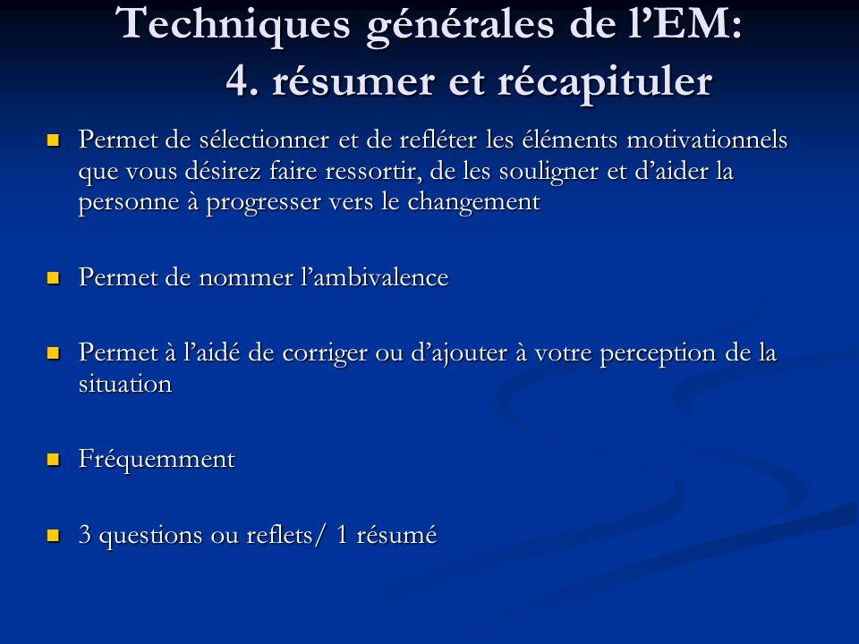 Techniques générales de lEM: 4.