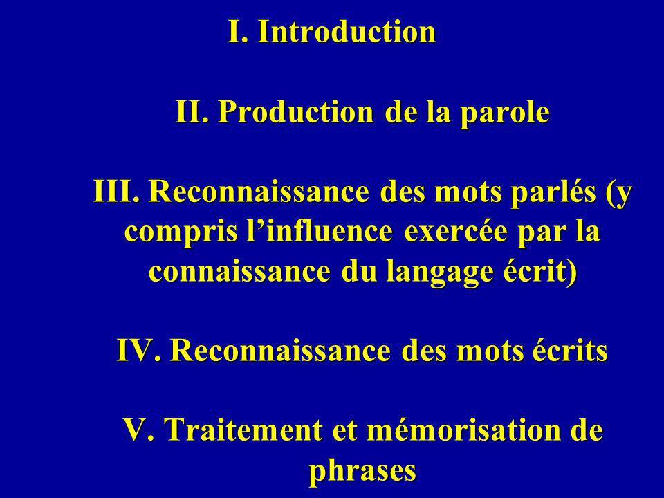 I.Introduction Psycholinguistique cognitive (système de traitement du langage: structure et fonctionnement) et Psycholinguistique appliquée Linguistique (description formelle): éléments et ensemble de règles prédisant les combinaisons possibles analogie avec la structure hiérarchique de la physique