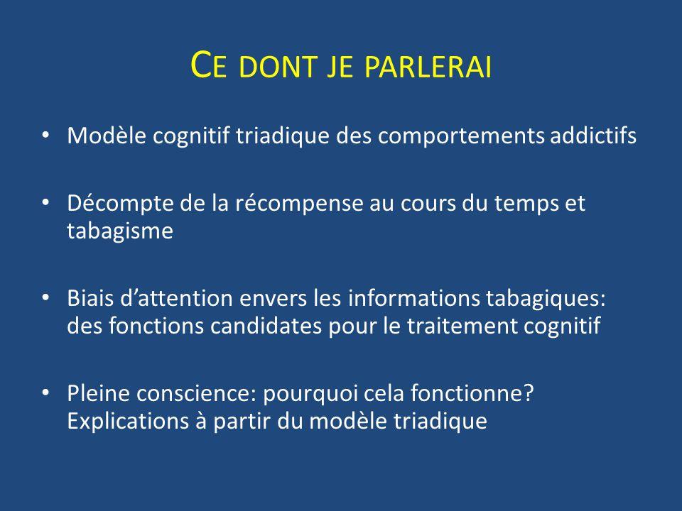 Taux de décompte et tabacco- dépendance Garcia-rodriguez et al., 2013, Behavioural Process