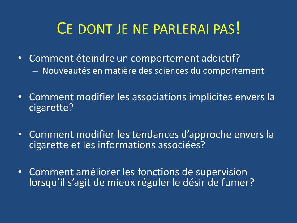 Score IAT et sévérité de la dépendance tabagique Waters et al. (2007, Drug and Alcohol Dependence)
