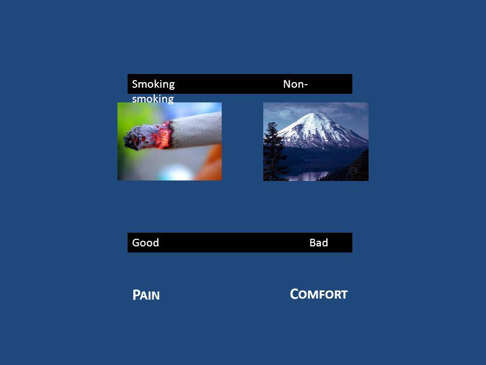 Good Bad Smoking Non- smoking P AIN C OMFORT