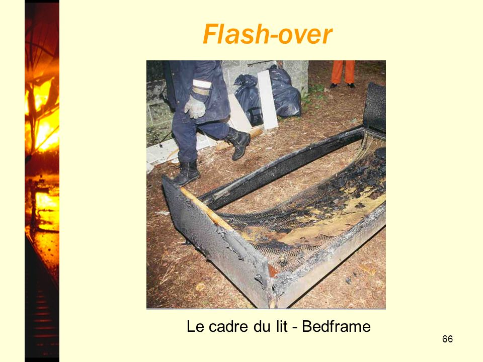 66 Flash-over Le cadre du lit - Bedframe