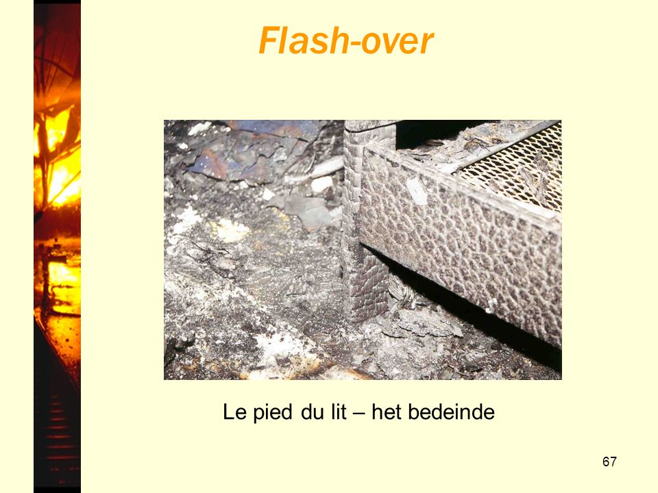 67 Le pied du lit – het bedeinde Flash-over