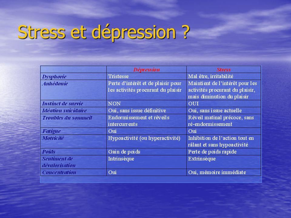 Stress et dépression ?