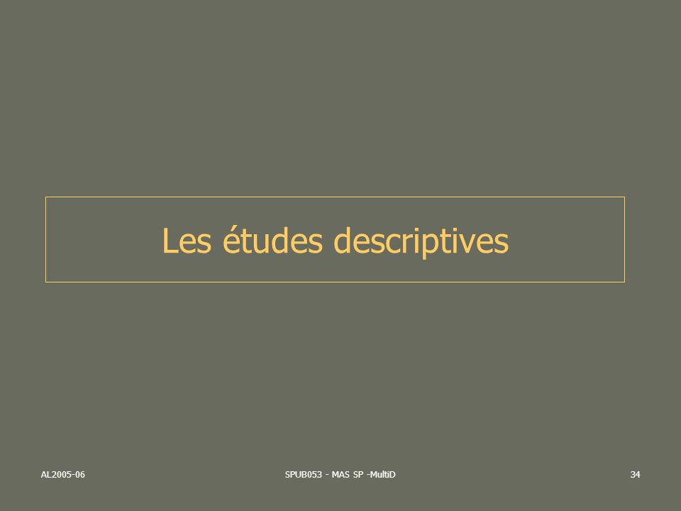 AL2005-06SPUB053 - MAS SP -MultiD34 Les études descriptives
