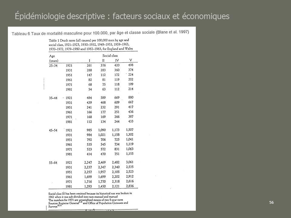 AL2005-06SPUB053 - MAS SP -MultiD56 Épidémiologie descriptive : facteurs sociaux et économiques