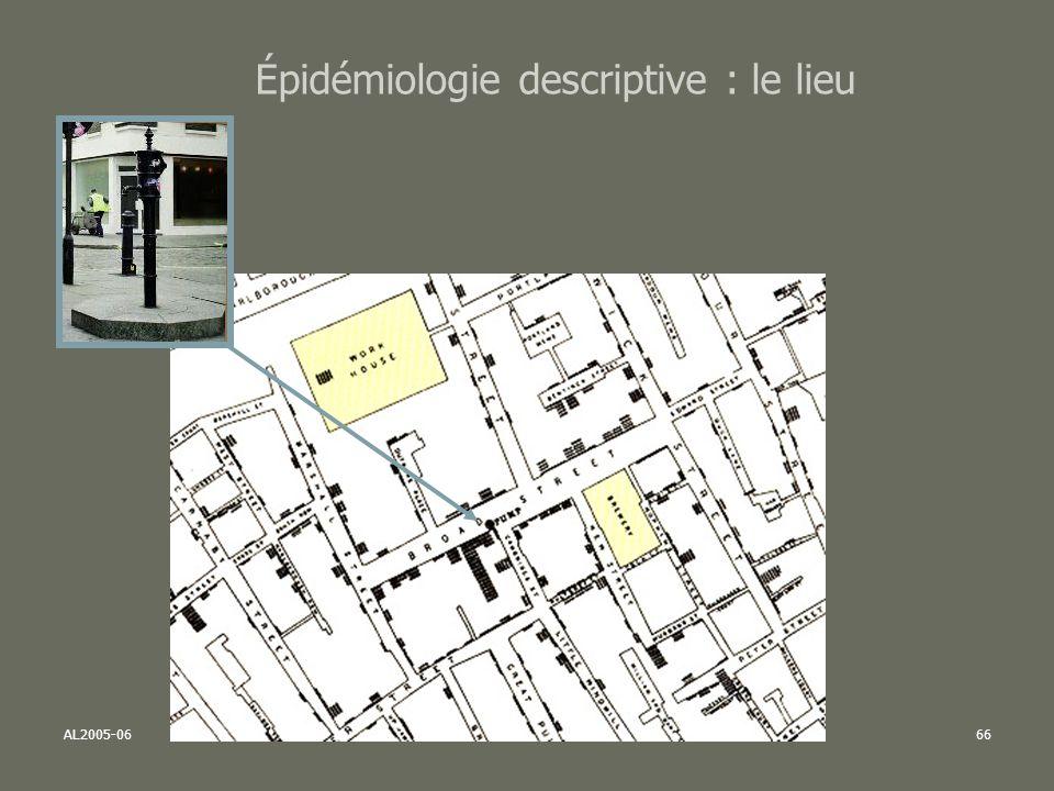 AL2005-06SPUB053 - MAS SP -MultiD66 Épidémiologie descriptive : le lieu