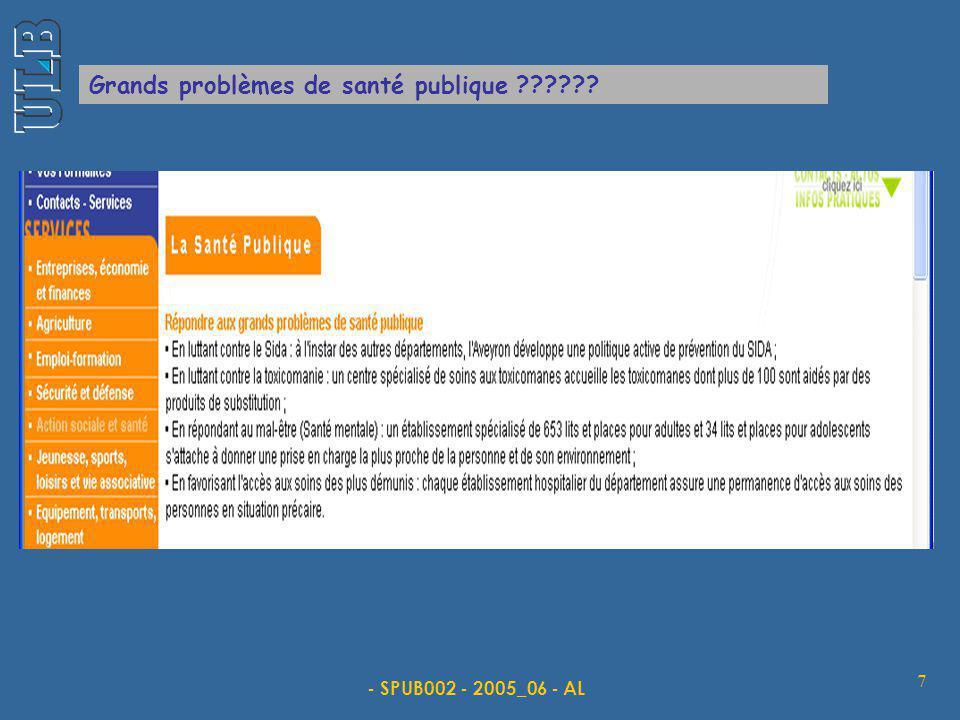 - SPUB002 - 2005_06 - AL 7 Grands problèmes de santé publique ??????