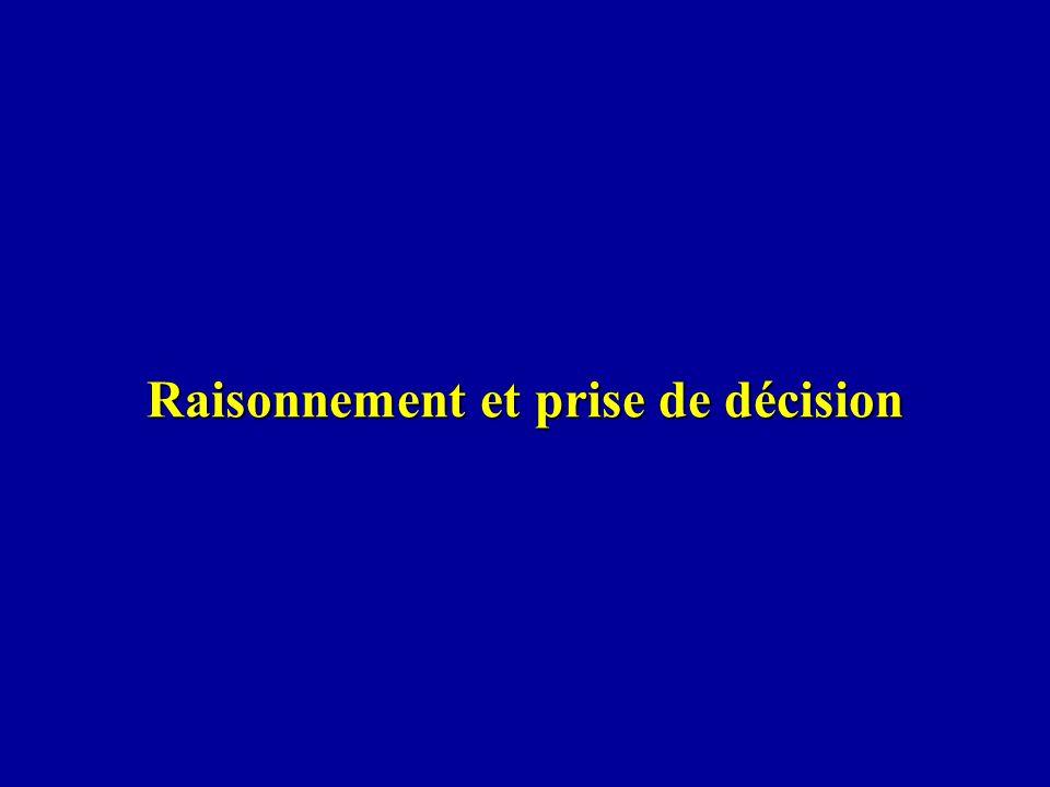 Raisonnement et prise de décision