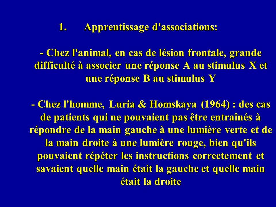 Type II (impliquant le noyau thalamique) : Le « blindsight-action » et le « blindsight-attention » (Danckert & Rossetti, 2005) « Blindsight-action » (implique le cortex pariétal): meilleure habileté pour pointer que pour orienter le regard vers la cible (Weiskrantz et al., 1974) Perenin & Rossetti (1996) ont comparé appariement perceptif, description verbale et action intentionelle (« grasping » tenant compte de différences de taille et « posting » dune carte pour tenir compte des différences dorientation).