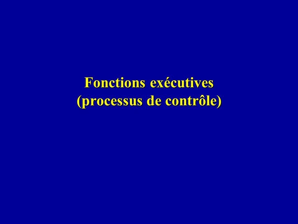 Fonctions exécutives (processus de contrôle)