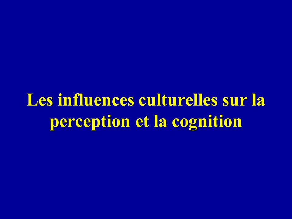 Les influences culturelles sur la perception et la cognition