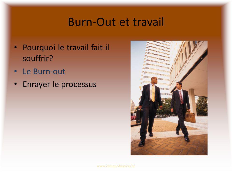 Burn-Out et travail Pourquoi le travail fait-il souffrir.