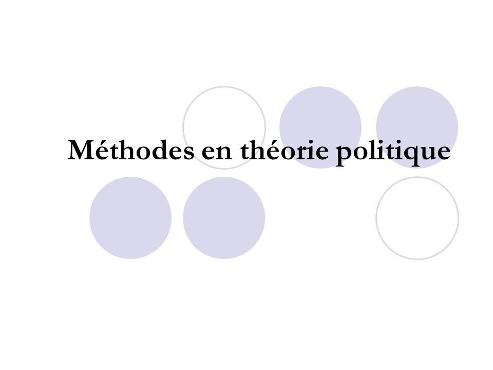 Méthodes en théorie politique