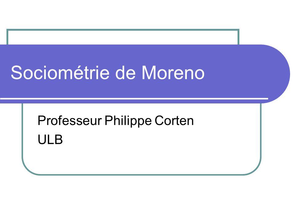 Sociométrie de Moreno Professeur Philippe Corten ULB