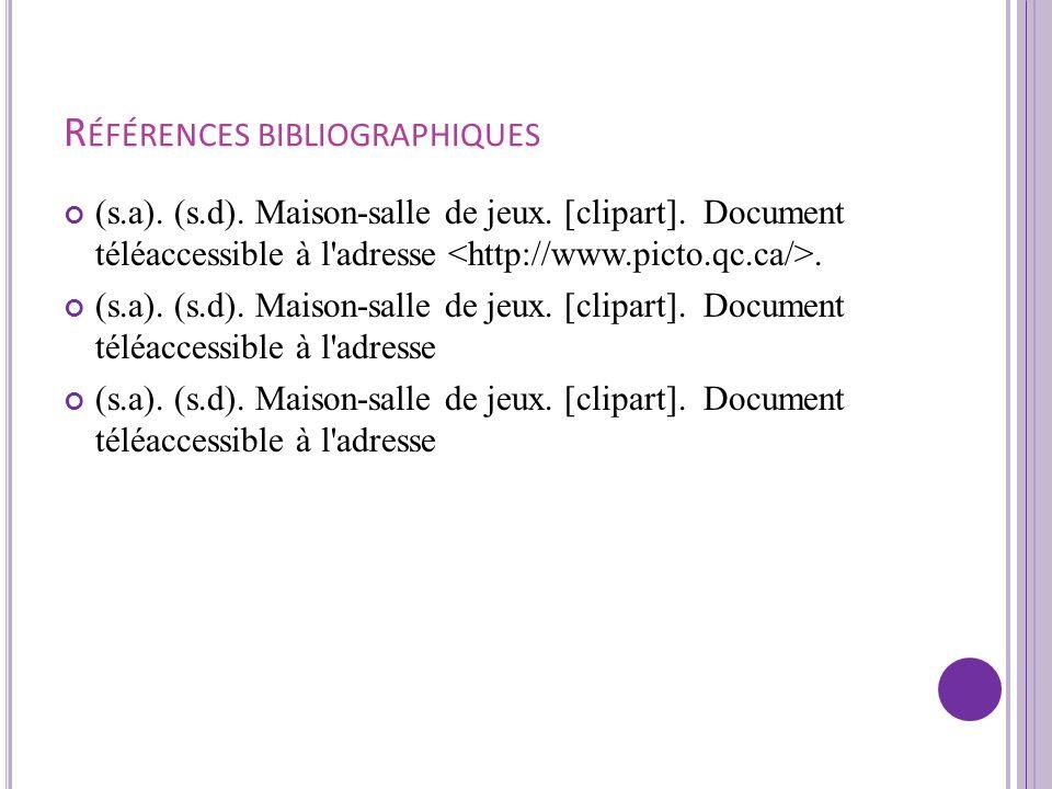 R ÉFÉRENCES BIBLIOGRAPHIQUES (s.a). (2010). Princess Camilla - Disney Inspired Princess Digital Clipart Element [clipart]. Document téléaccessible à l