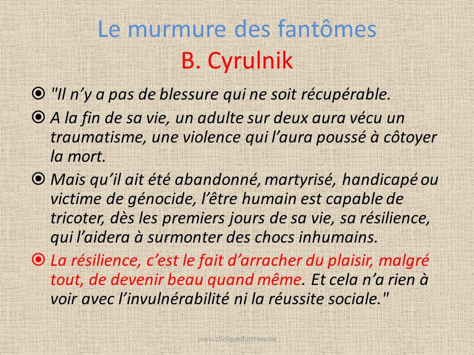 Le murmure des fantômes B. Cyrulnik