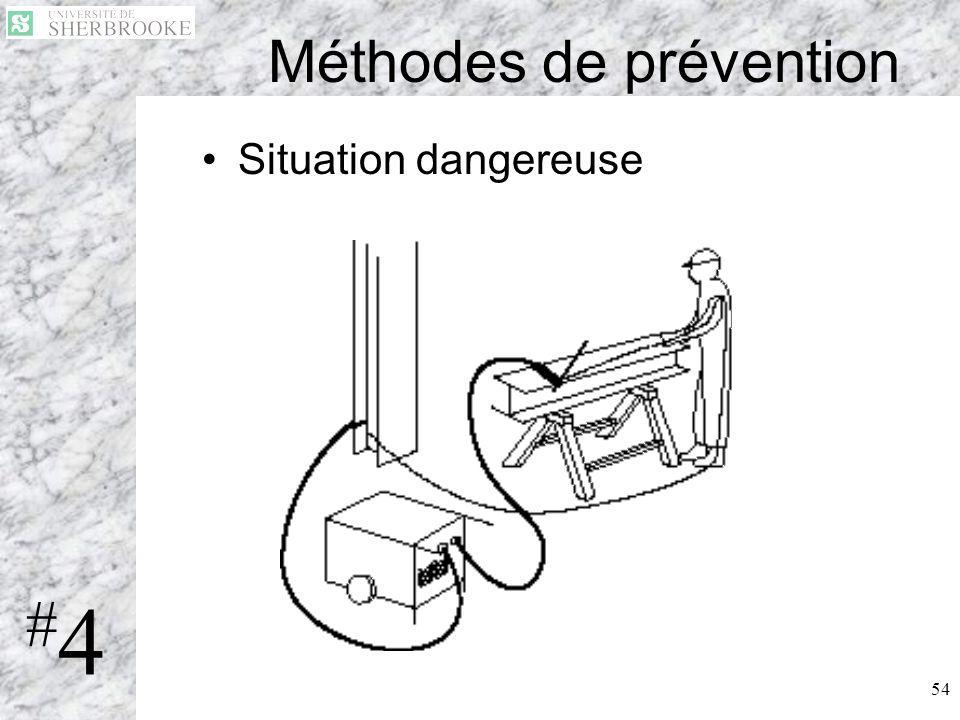 54 Méthodes de prévention Situation dangereuse #4#4