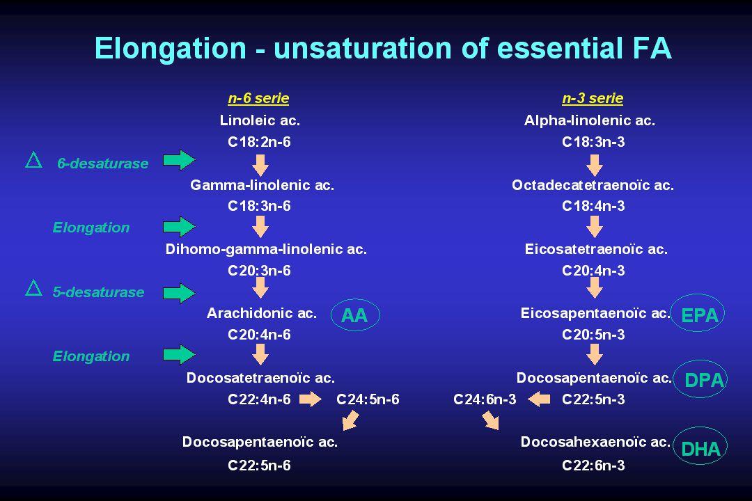 Metabolism of -linolenic acid From Cunnane SC, J Physiol Pharmacol, 1996