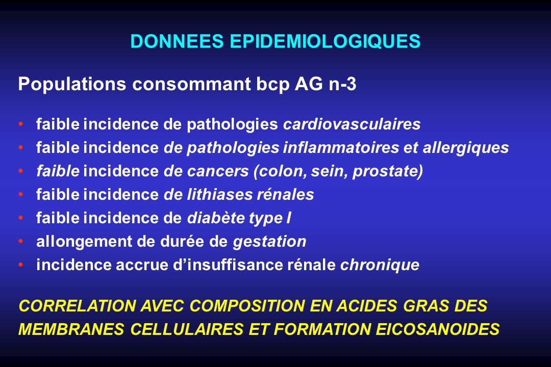Acides Gras oméga-3 Rôles-clés en Santé Humaine Développement cognitif Développement vision Réponses immunes/inflammatoires Grossesses & développement foetal Maladies neurodégénératives Aspects psychologiques Maladies cardio-vasculaires