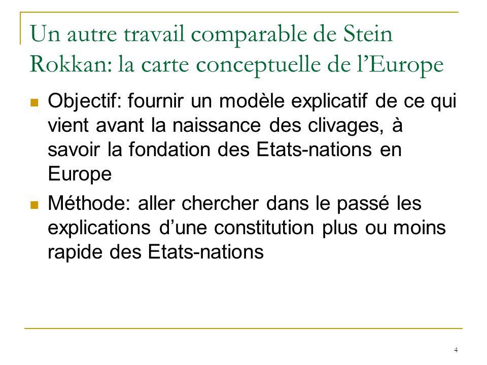 15 Le clivage européen Le retour du clivage centre-périphérie avec lintégration européenne comme nouveau mouvement dintégration nationale.