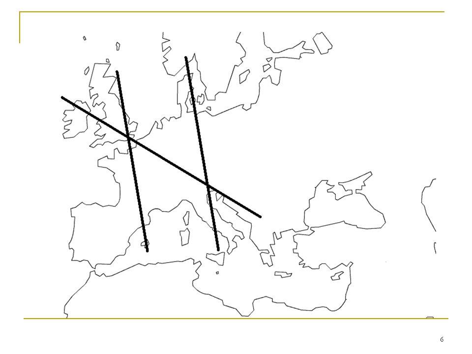 7 Les deux axes et le développement de lEtat nation (I) Plus la distance par rapport au cœur économique de lEurope est grande, plus lunification territoriale et nationale sera aisée La richesse économique et lintensité des échanges commerciaux a permis à de nombreuses centres urbains démerger, morcelant le territoire et rendant difficile lunification En dehors de la ceinture urbaine, les territoires sont plus étendus avec moins de centres concurrents.