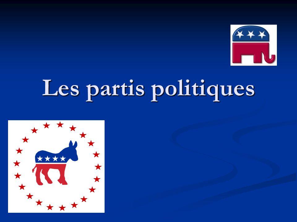 Partis temporaires Partis temporaires Mouvements de protestation économiques : Populistes des années 1890 ou Progressive des années 1920 Scission au sein dun grand parti : American Independent Party de G.