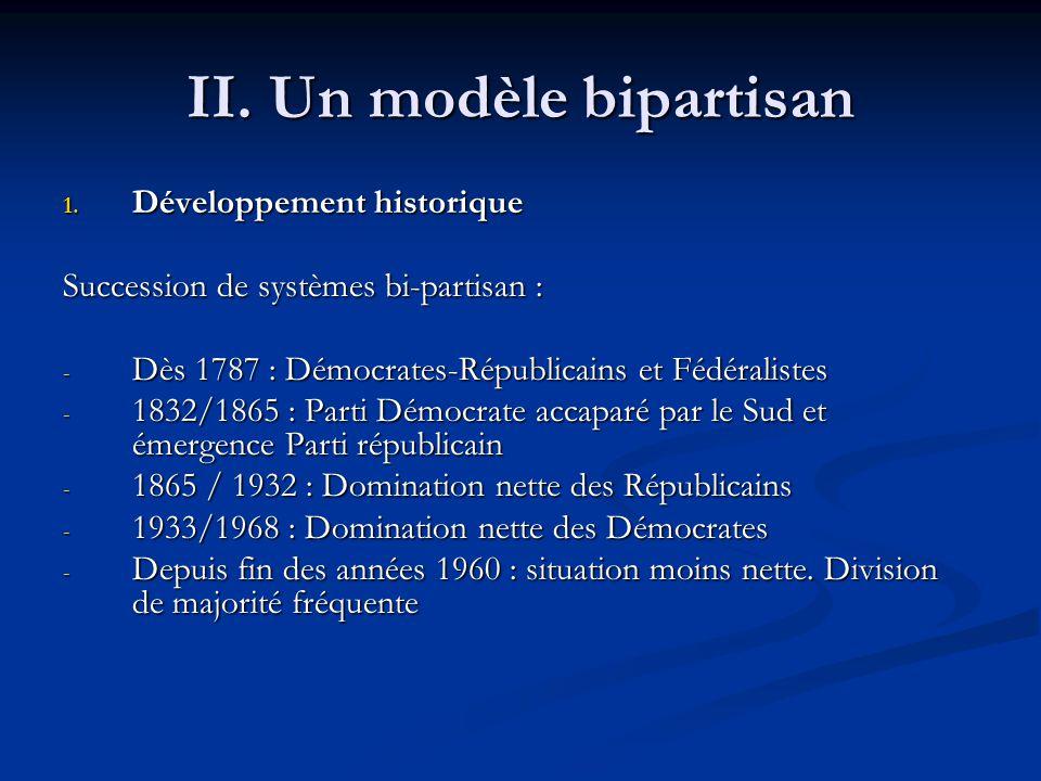 II. Un modèle bipartisan 1.