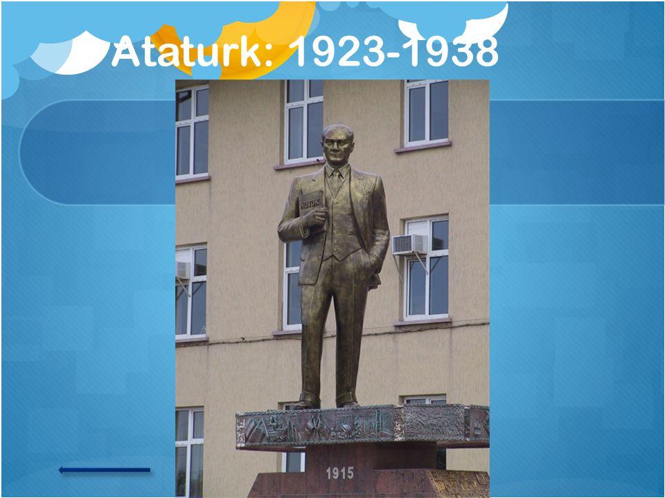 Ataturk: 1923-1938
