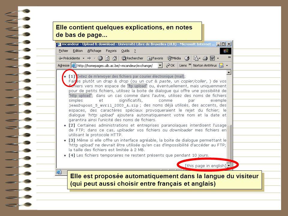 Elle contient quelques explications, en notes de bas de page... Elle est proposée automatiquement dans la langue du visiteur (qui peut aussi choisir e