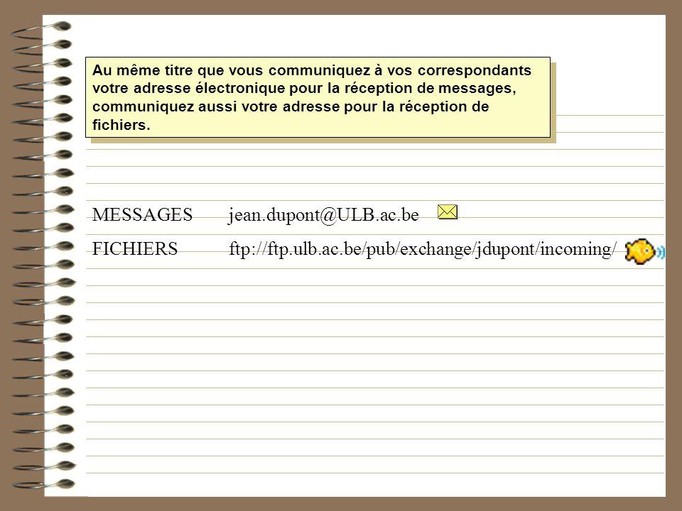 Au même titre que vous communiquez à vos correspondants votre adresse électronique pour la réception de messages, communiquez aussi votre adresse pour