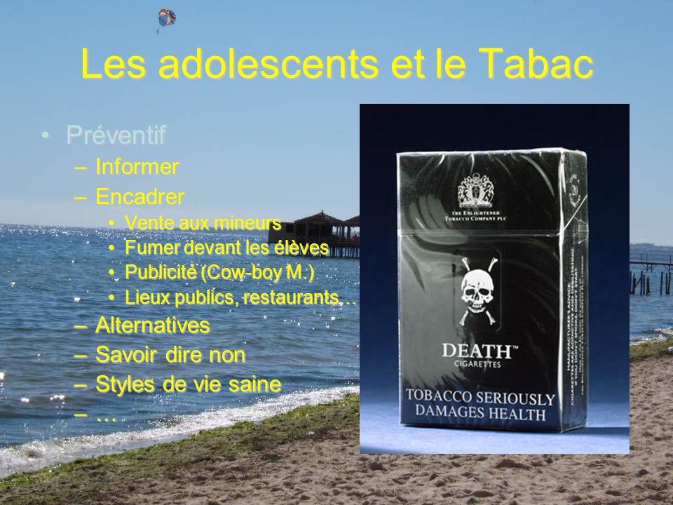 Les adolescents et le Tabac Promotion de la santéPromotion de la santé –Pourquoi fument-ils.