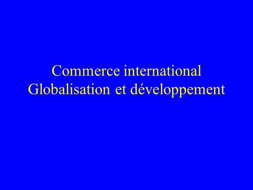Commerce international Globalisation et développement