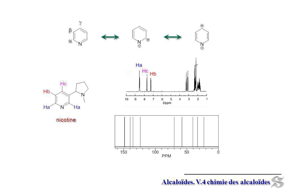Alcaloïdes. V.4 chimie des alcaloïdes nicotine